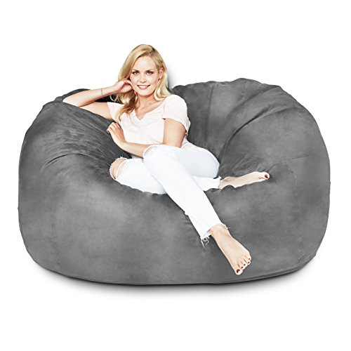 Lumaland Luxury 5-Foot Bean Bag Chair with Microsuede ...